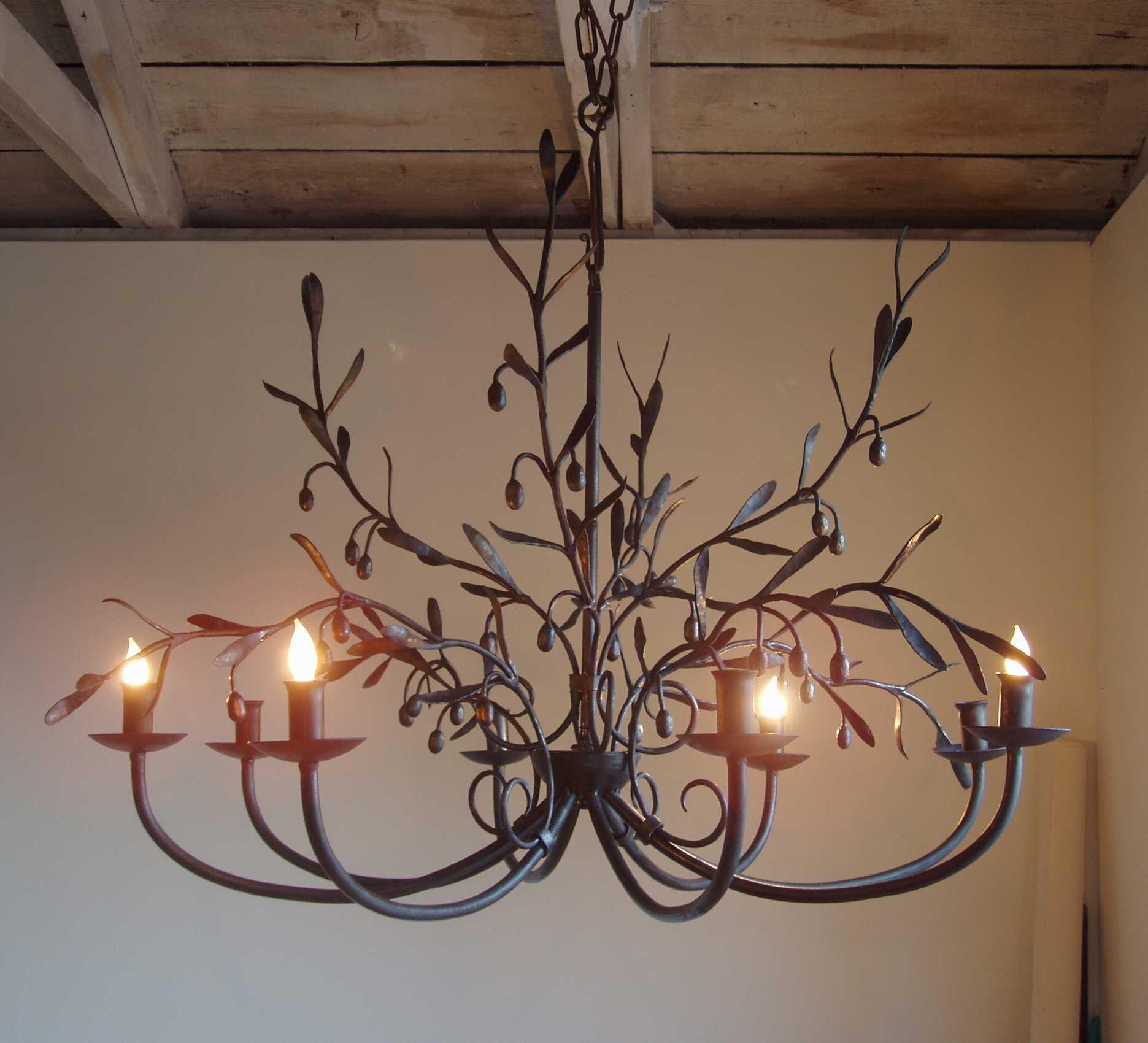 Olive branch chandelier